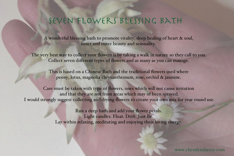 Cheralyn Darcey - Blessings & Spells Postcard ~ Seven