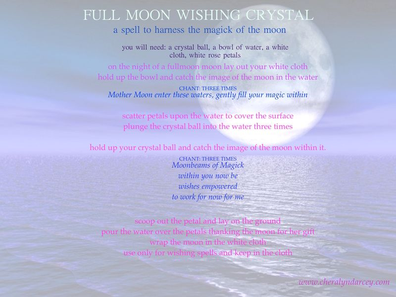 Moon wishing spell