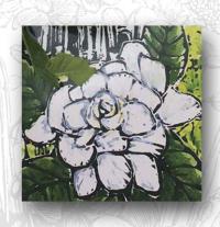 Gardenia button