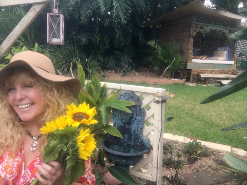 Cheralyn darcey and sunflowers