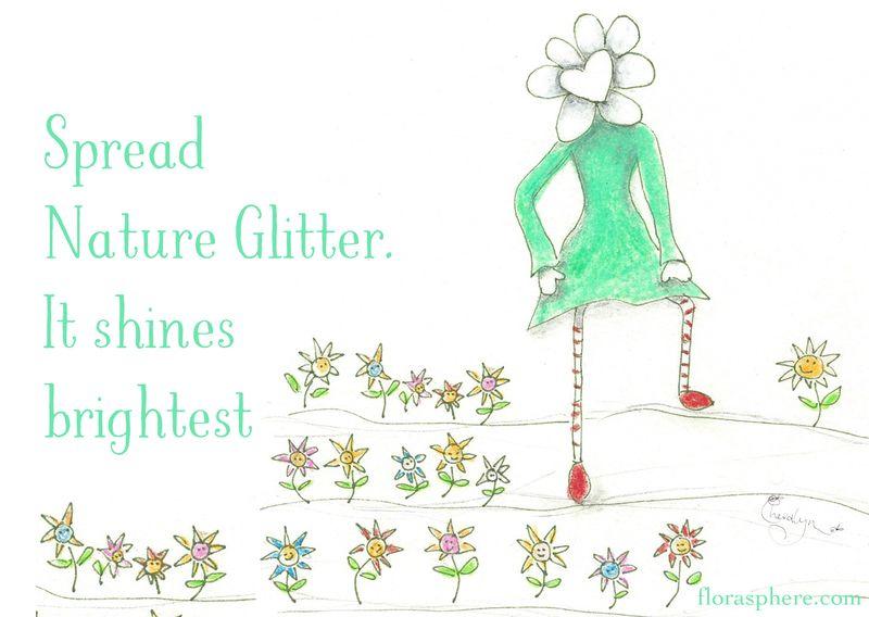 POSTCARD glitter
