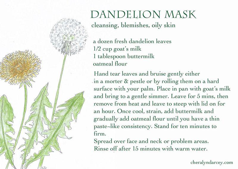 Dandelion mask