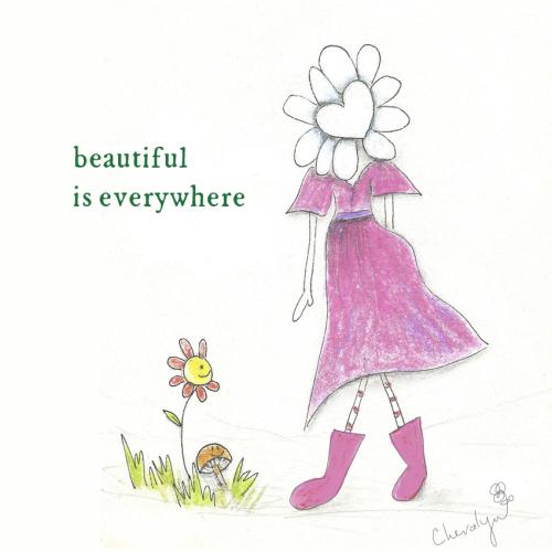Flora beautiful card