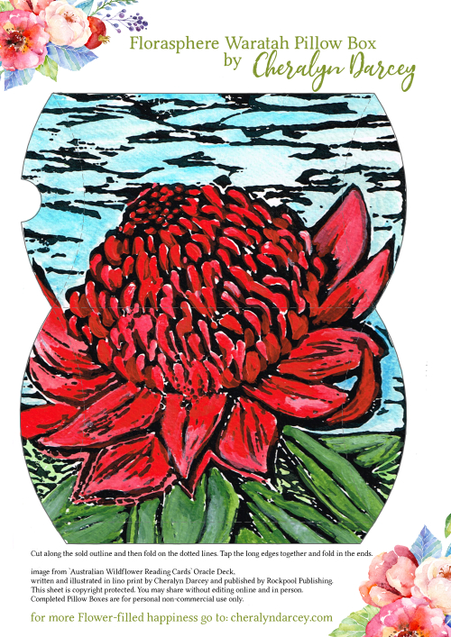 Waratah Pillow Box Sheet